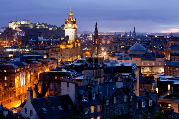 Edinburgh Cityscape Dusk Stock photo © vichie81