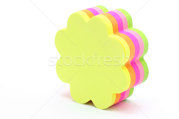 color flower shape memo stick  Stock photo © vichie81