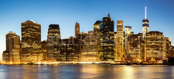 Panorama of New York City Stock photo © vichie81