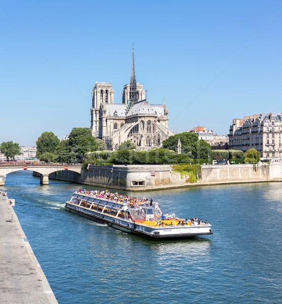 Paris Notre Dame Panorama Stock photo © vichie81
