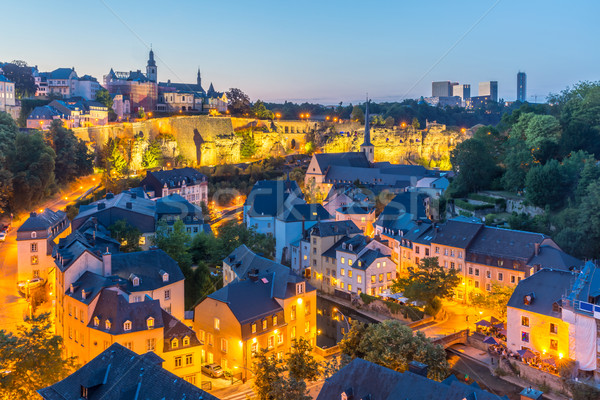 Luxembourg City night Stock photo © vichie81