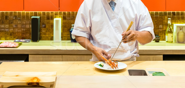 омаров сашими повар приготовления продовольствие Сток-фото © vichie81