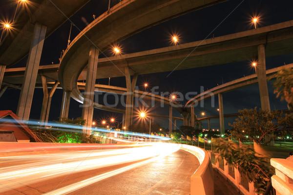 Endüstriyel köprü Bangkok mimari olarak Tayland Stok fotoğraf © vichie81