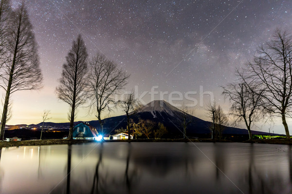 Fujisan with Star and milkyway Stock photo © vichie81