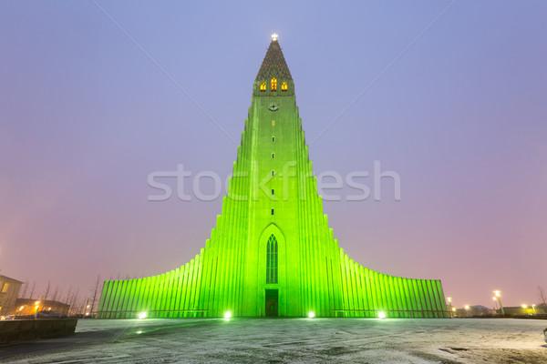 собора Рейкьявик Исландия сумерки здании город Сток-фото © vichie81