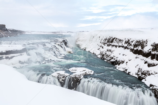 Gulfoss Waterfall Iceland Winter Stock photo © vichie81
