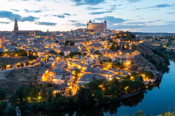 Zdjęcia stock: Zmierzch · Hiszpania · Cityscape · Madryt · domu · ściany