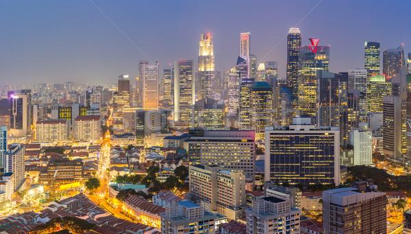 Singapore night Stock photo © vichie81