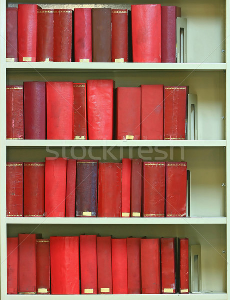 red old hardcover books on bookshelf Stock photo © vichie81