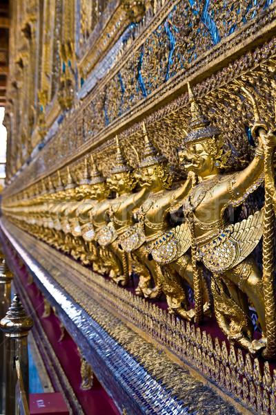 Golden Garuda at grand palace Thailand Stock photo © vichie81