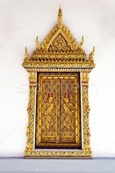 Gouden Windows tempel paleis Bangkok Thailand Stockfoto © vichie81