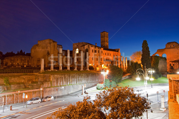 Roman Forum at dusk Stock photo © vichie81