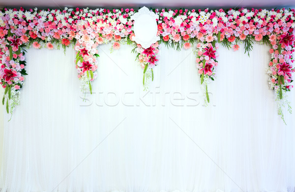 Flowers archway Stock photo © vichie81