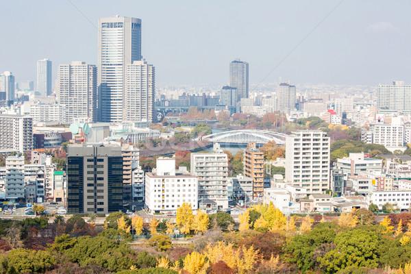 Osaka ufuk çizgisi Bina gökdelen Japonya binalar Stok fotoğraf © vichie81