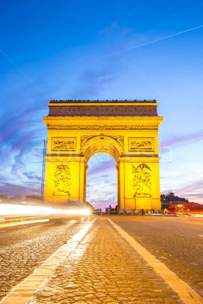 Arc of Triomphe Champs Elysees Paris Stock photo © vichie81