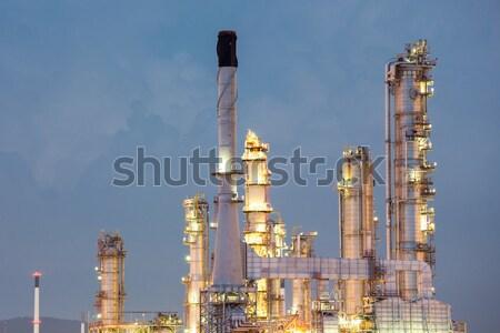 завода завода сумерки дым промышленности Сток-фото © vichie81