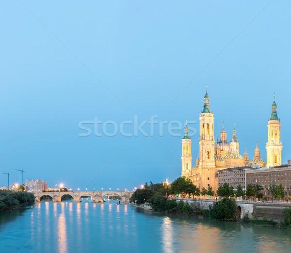базилика Испания Панорама Lady реке Сток-фото © vichie81