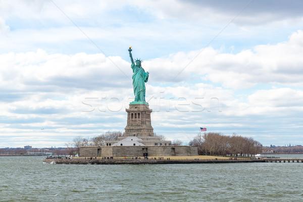 Statue liberté New York City USA vert bleu Photo stock © vichie81