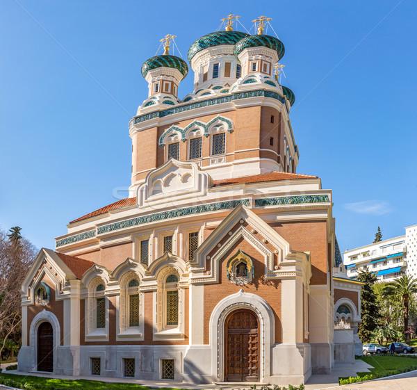 Orthodoxy church Nice France Stock photo © vichie81