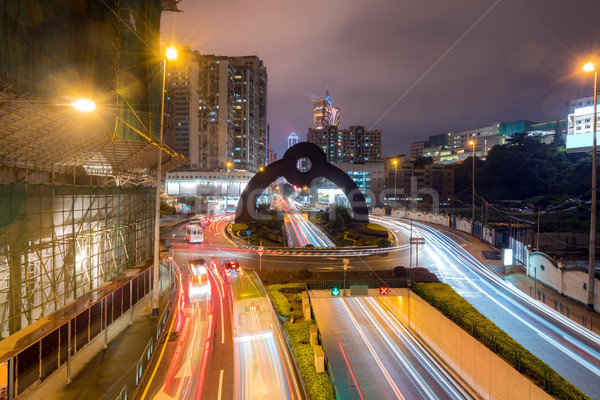 Stadsgezicht nacht skyline nu weg stad Stockfoto © vichie81