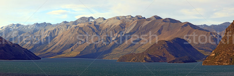 Stock photo: Lake Hawea Panorama Wanaka New Zealand