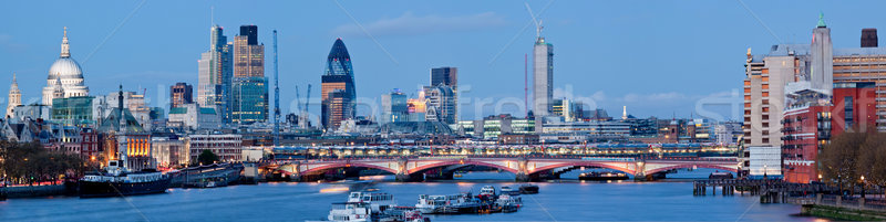 Foto stock: Panorama · catedral · Londres · ponte · rio