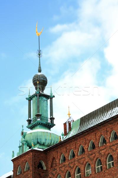Kule Stockholm ay simge ev şehir Stok fotoğraf © vichie81