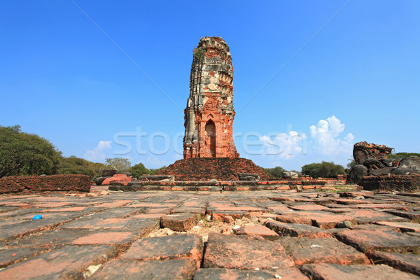ruin of old temple or wat in Thailand  Stock photo © vichie81