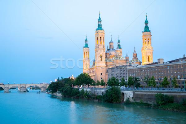 Our Lady of the Pillar Basilica Zaragoza, Spain Stock photo © vichie81