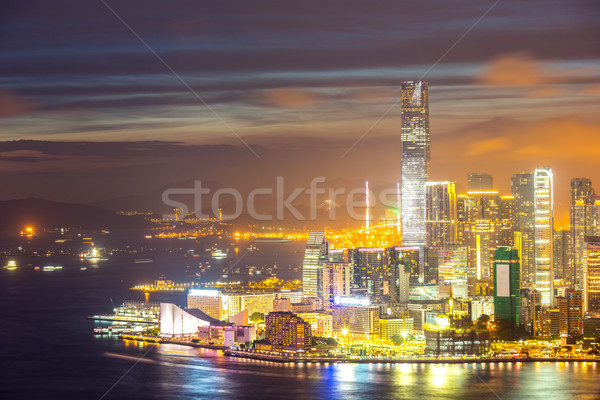 Hong Kong city Skyline Stock photo © vichie81