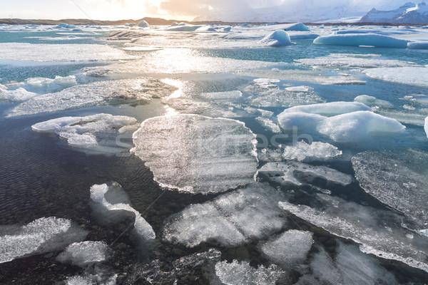Gleccser Izland víz hó szépség hegy Stock fotó © vichie81