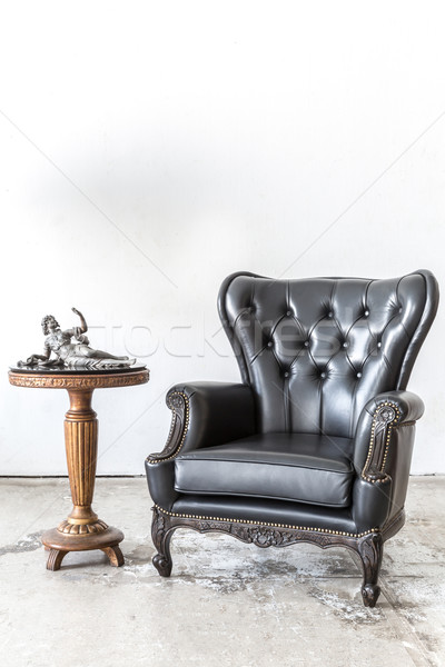 Awe Inspiring Retro Leather Chair With Cabinet Stock Photo C Vichaya Dailytribune Chair Design For Home Dailytribuneorg