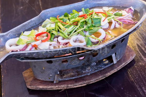 осьминога извести пряный соус продовольствие Сток-фото © vichie81