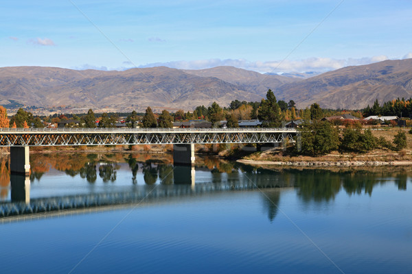 road bridge over dunstan lake Stock photo © vichie81