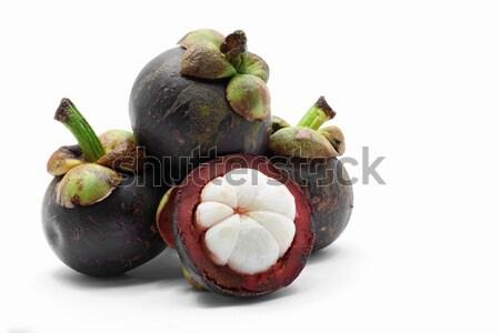 Мангостин фрукты азиатских тропические белый продовольствие Сток-фото © vichie81