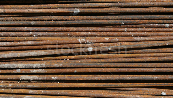 Acier tige texture bâtiment fond rouille Photo stock © vichie81