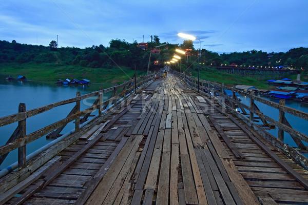 Wooden Bridge Stock photo © vichie81