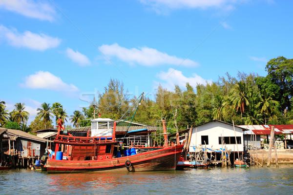 Fisherman village Stock photo © vichie81