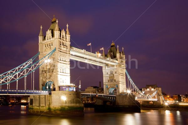 Stok fotoğraf: Tower · Bridge · Londra · nehir · thames · işaret · İngiltere