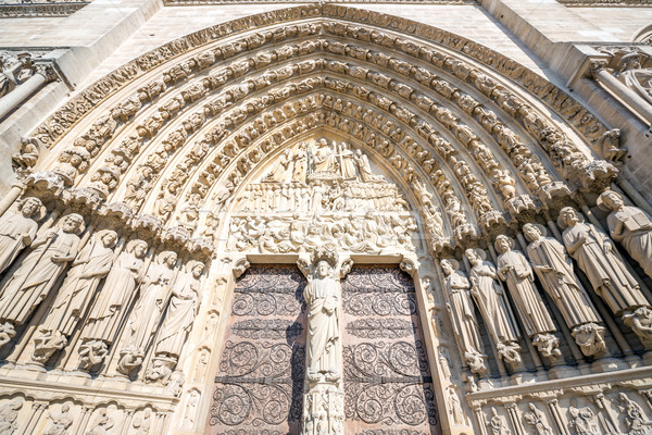 gate of Cathedral Notre Dame Stock photo © vichie81