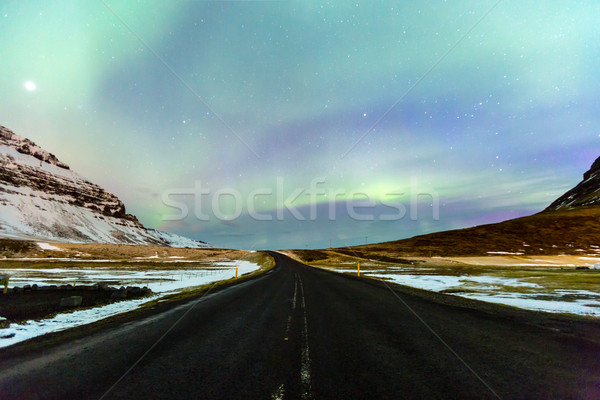 Northern Light Aurora borealis Iceland Stock photo © vichie81