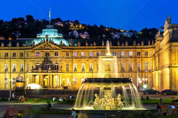 Stuttgart city center, Germany at dusk Stock photo © vichie81