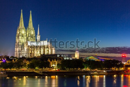 Cologne Cathedral River Rhine Stock photo © vichie81