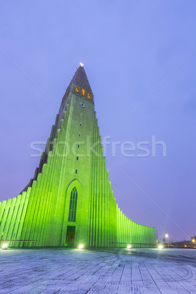 Hallgrimskirkja Cathedral Iceland Stock photo © vichie81