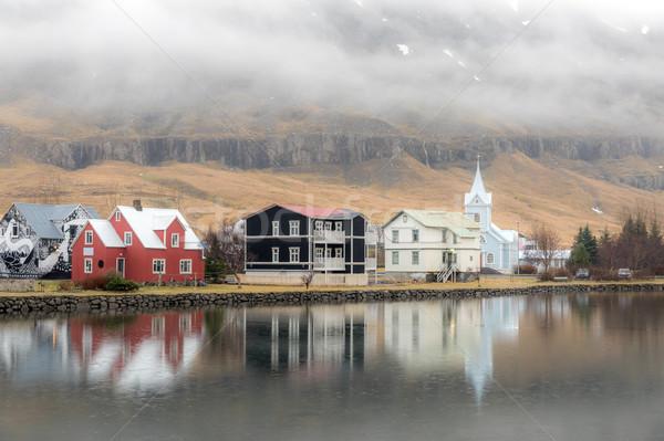 Seydisfjordur cityscape Iceland Stock photo © vichie81
