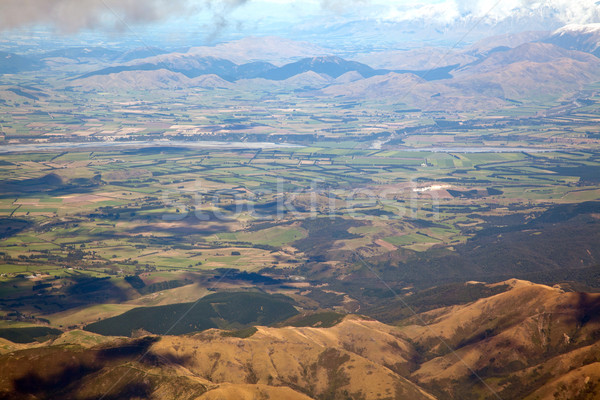 Aerial view of Canterbury New Zealand Stock photo © vichie81