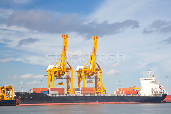 Container Cargo freight Industrail ship Stock photo © vichie81