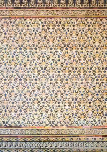 Fliese gotischen Wand royal Textur Jahrgang Stock foto © vichie81