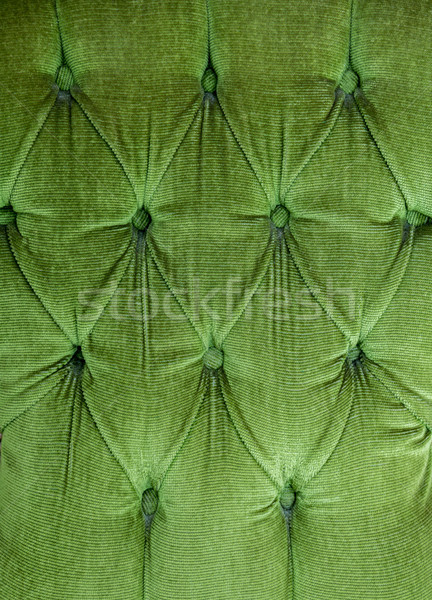 Stock photo: green fabric background
