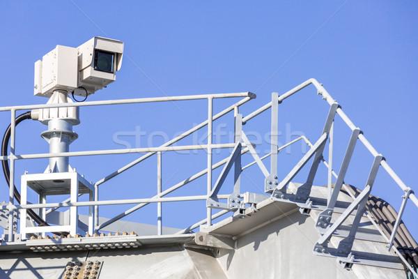 Cctv caméra de sécurité ciel bleu télévision technologie vidéo Photo stock © vichie81